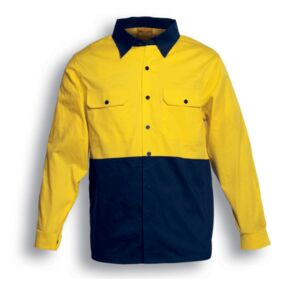 Embroidered - Bocini - Hi-Vis Cotton Twill Shirt Long Sleeve Thumbnail