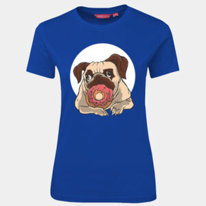 Pug with donut - JB's Wear - 1LHT - Fitted Tee  Thumbnail